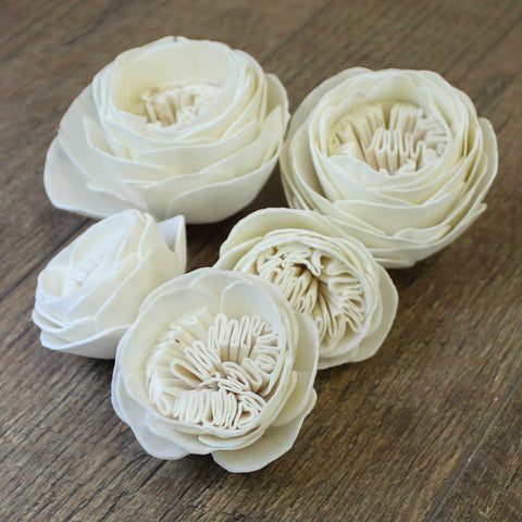 "Garden Rose - 3"" - Wood Flowers Co."