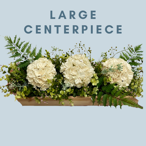 Image of Custom Wood Flower Centerpiece - Wood Flowers Co.