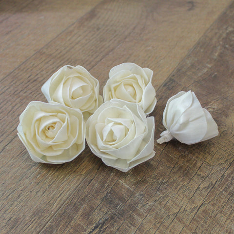 "Blooming Rose - 2.5"" - Wood Flowers Co."
