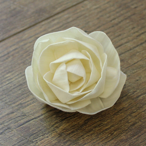 "Blooming Rose - 3"" - Wood Flowers Co."