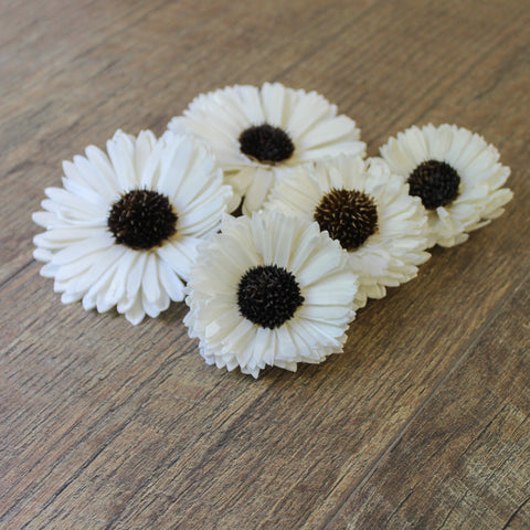 "Image of Sunflower - 12 Pack - 2.5"" - Wood Flowers Co."