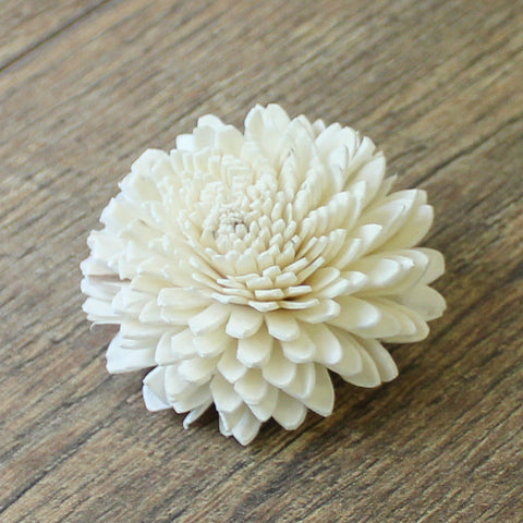 "Zinnia - 2.5"" - Wood Flowers Co."