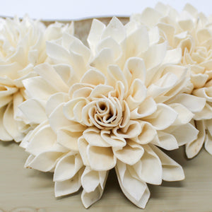 "2"" Dahlia Loose Sola Flower - DIY - Wood Flower Wedding - Wood Flowers Co."