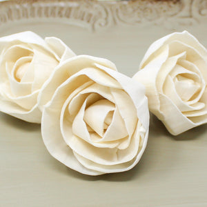 "2"" Blooming Rose Loose Sola Flower - DIY - Wood Flower Wedding - Wood Flowers Co."