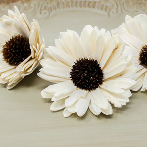 "2"" Sunflower Loose Sola Flower - DIY - Wood Flower Wedding - Wood Flowers Co."