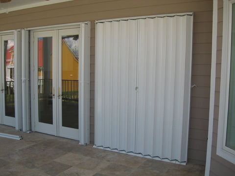 "85"" x 87.25"" Accordion Hurricane Shutters"