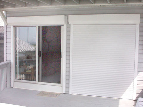 Motorized Rolling Hurricane Shutter w/ Motorized Rolling Curtain and Remote Control Optional