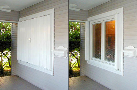 "65.5"" x 34.25"" Accordion Hurricane Shutters"