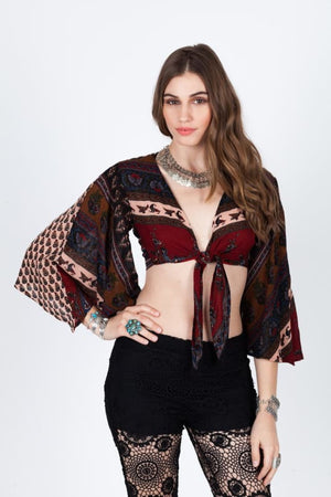 RAGA WILD FIRE WRAP TOP - TOP - $20 - $50 APPAREL MODALYST SHIRTS TOPS