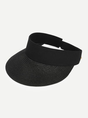 SUN VISOR HAT - HAT - ACCESSORIES BLACK BOHO POLYESTER