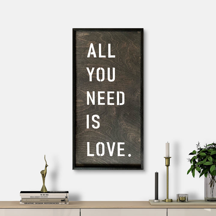 WoodMotto- All You Nedd is Love
