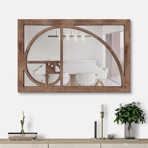 WoodMirror -  Golden Ratio - Wall Mirror,  Geometric Mirror, Wood Mirror, Framed Mirror, Bathroom Decor, Entryway Decor, Minimalist