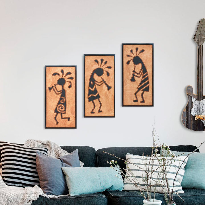 WoodArt - Kokopelli, Ant Band (3 pieces)