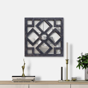 WoodMirror - Bangui - Wall Mirror,  Geometric Mirror, Wood Mirror, Framed Mirror, Bathroom Decor, Entryway Decor, Minimalist