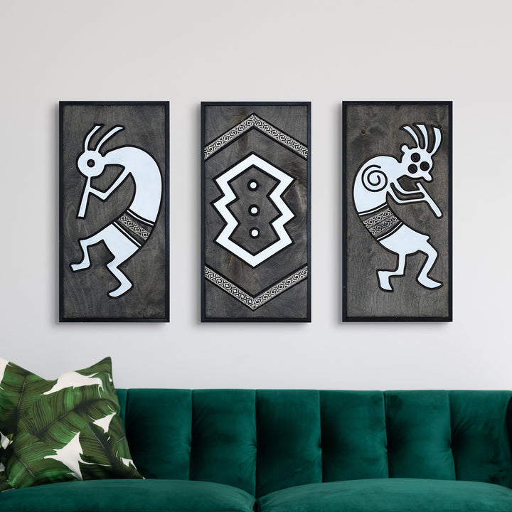 WoodArt - Kokopelli, Aztec Musicians (3 pieces)