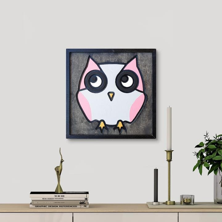 WoodColor - Owl (Pink)