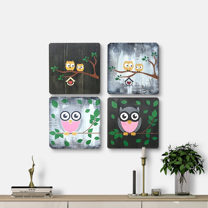WoodColor - Owl Series (4 pieces)
