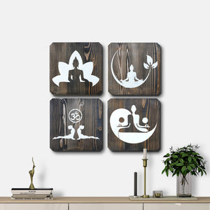 WoodColor - Black Yoga Series (4 pieces)