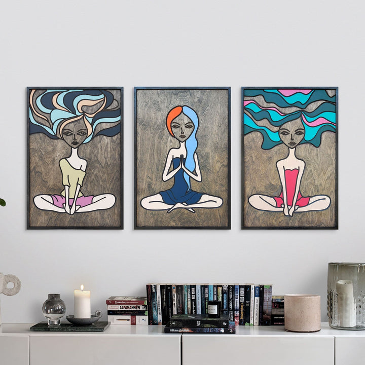 WoodArt - Boho Girls (3 pieces)