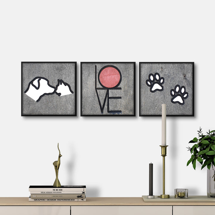 WoodColor - Cat-Dog Series (3 pieces)
