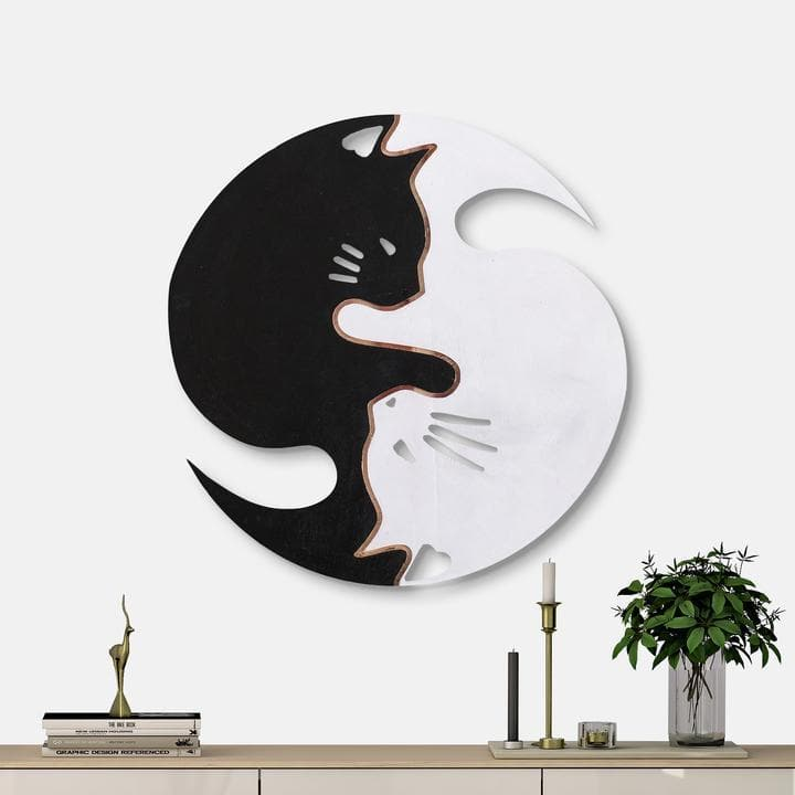WoodColor - Yin Yang Cats