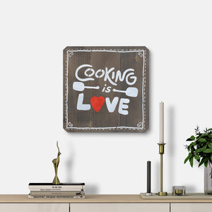 WoodMotto - Cooking is Love - II