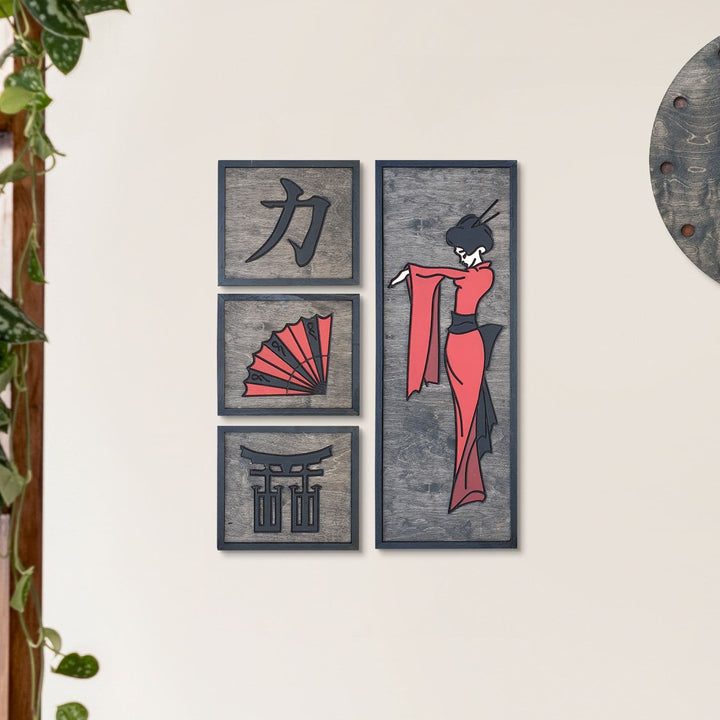 WoodArt - Geisha (4 Pieces)
