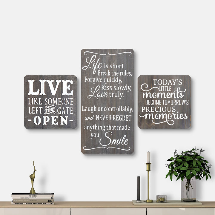 WoodMotto- Life Series (3 pieces)