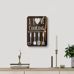 WoodMotto - I Love Cooking