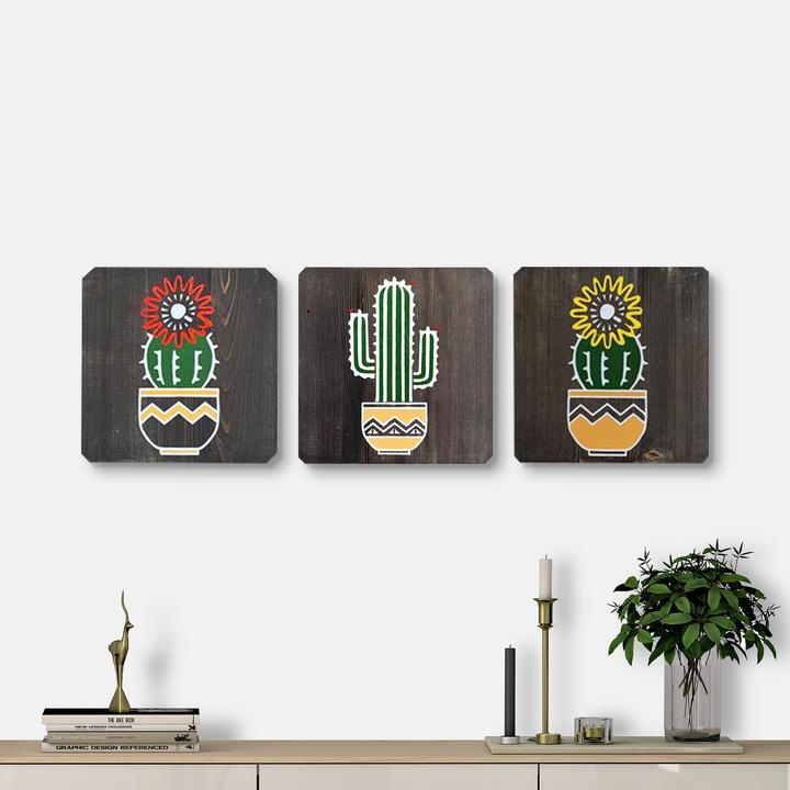 WoodColor - Cactus Series II (3 pieces)
