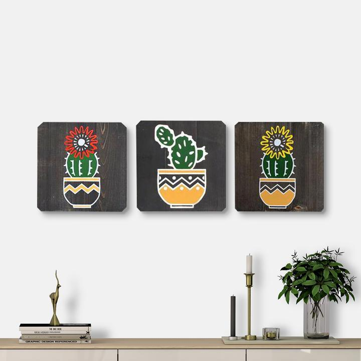 WoodColor Cactus Series III (3 pieces)