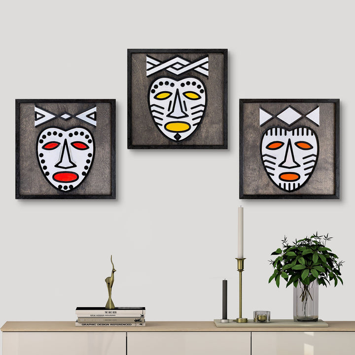 WoodColor - Mask Series(3 pieces)