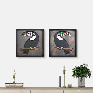 WoodColor - Parrot Coco Larry Series (2 pieces)
