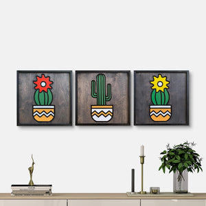 WoodColor - Colorful Cactus Series (3 pieces)