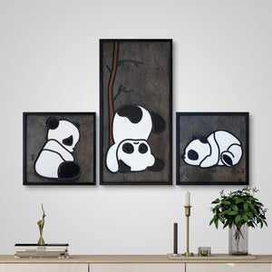 WoodColor -  Cute Pandas (3 pieces)