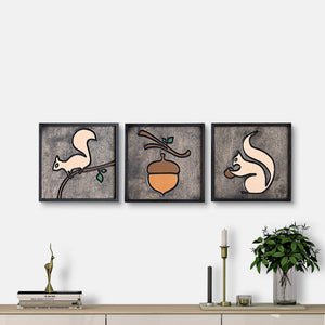 WoodColor -  Squirrel Series(3 pieces)