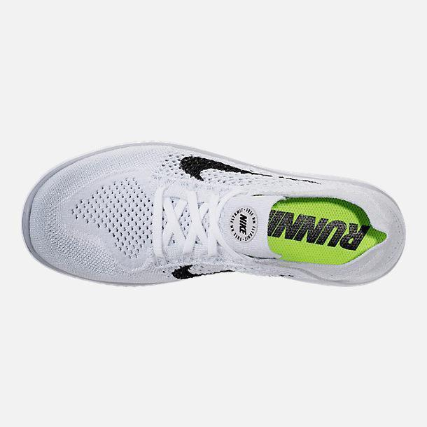 online retailer 53827 68041 Free RN Flyknit 2018 - Mens Running Shoes 942838-100 Pure Platinum