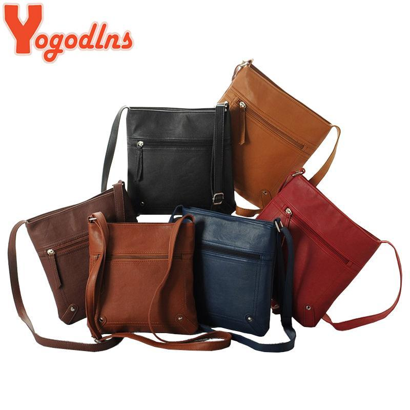 3044d8c24d Yogodlns Designers Women Messenger Bags Females Bucket Bag Leather  Crossbody Shoulder Bag Handbag Satchel