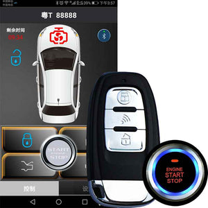 Smartphone Remote Car Alarm System Central Lock Ios/Android Mobile App Open  Trunk PKE Engine Keyless Start Stop Kit For Audi