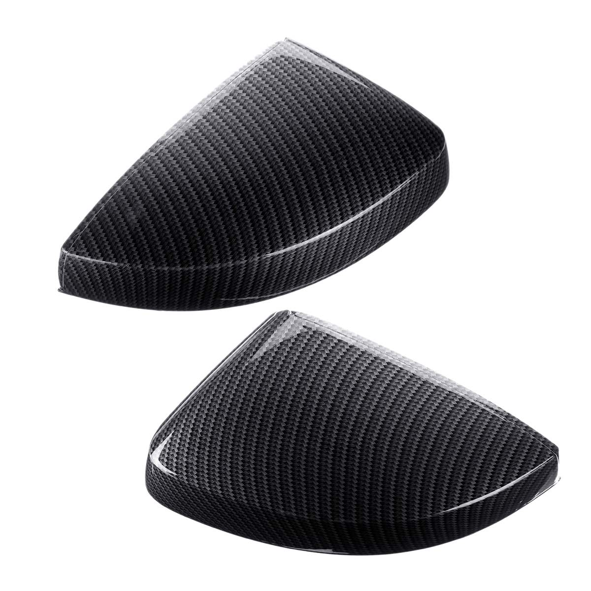 1 Pair ABS Carbon Mirror Cover Audi A3 S3 RS3 2013-2018 Replacement
