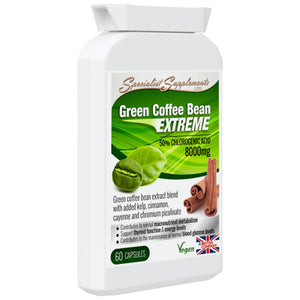 Green Coffee Bean 400mg, extract din boabe de cafea verde, 60 cps