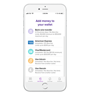 Abra App is Easy to Buy and Sell Litecoin