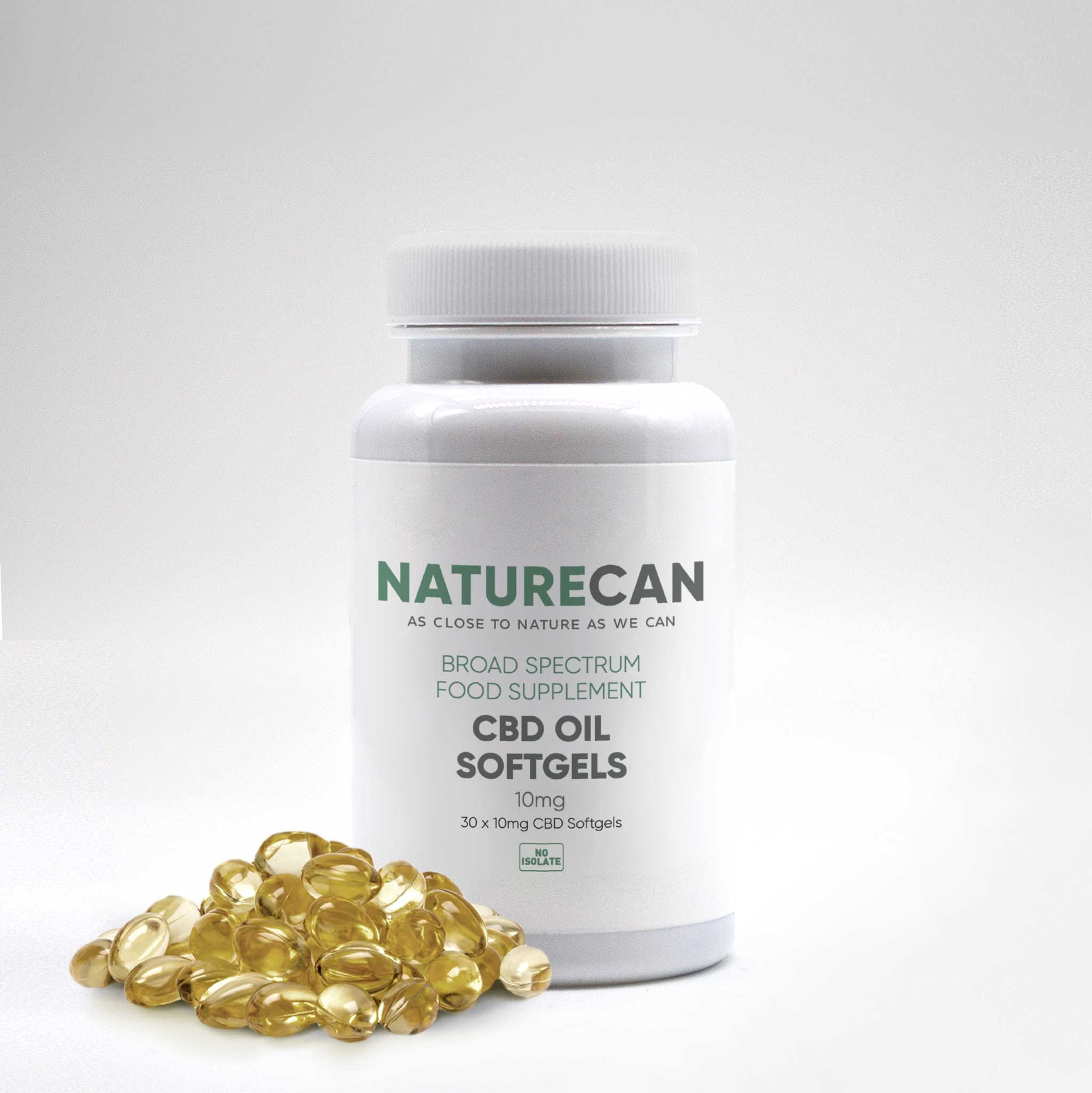 10mg-25mg CBD Oil Softgel Capsules