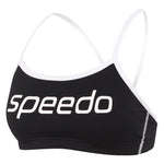 Womens Endurance+ Crop Top Black/White