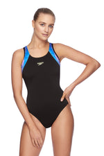 Womens Muscleback One Piece Black/Sparkler