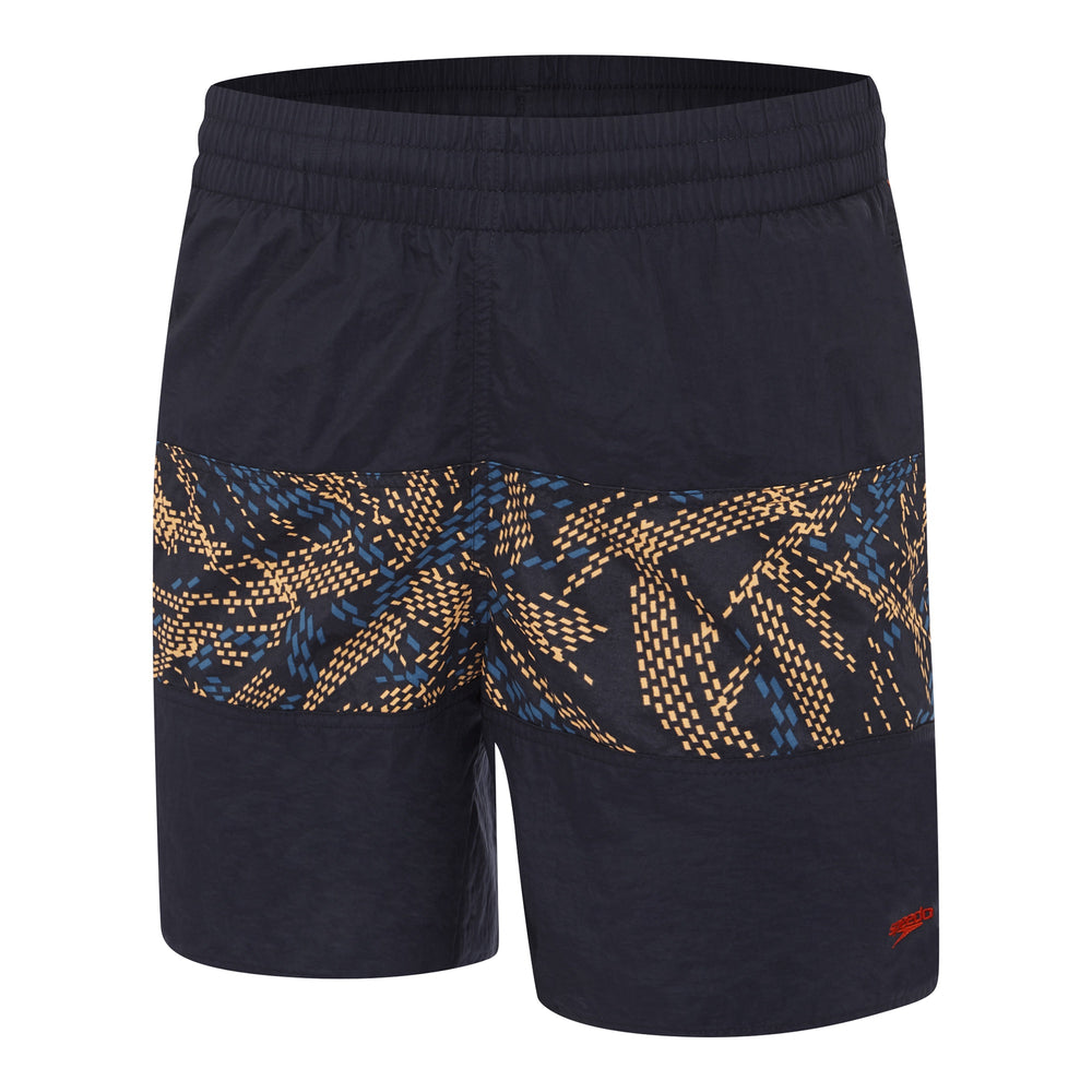 Mens Classic Panel Watershort Speedo Navy/Java