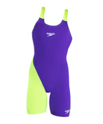 Girls Endurance+ Openback Kneeskin Violet/Yellow