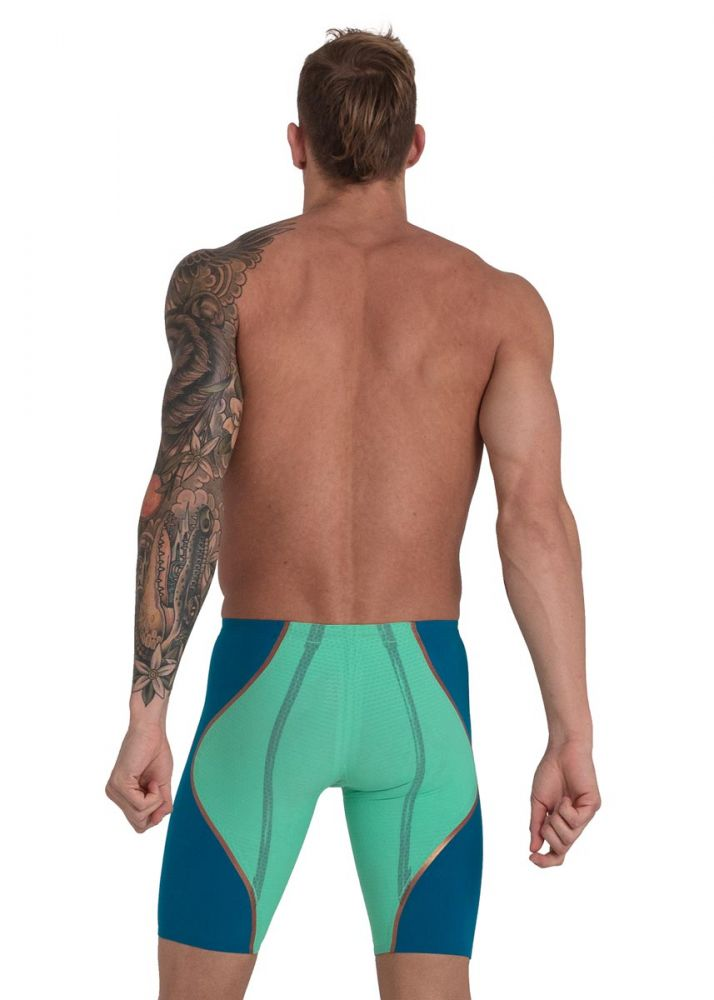 Fastskin LZR Racer Pure Intent High Waist Jammer Green Glow/Nordic Teal/Rose Gold