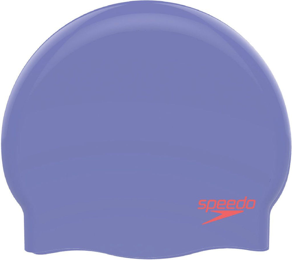 Junior Plain Moulded Silicone Cap Lilac/Red