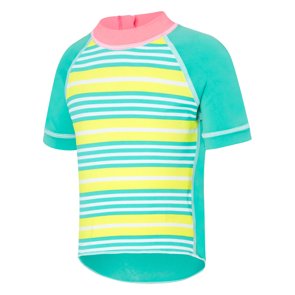 Toddler Girls Short Sleeve Sun Top Stripey/Bali Blue